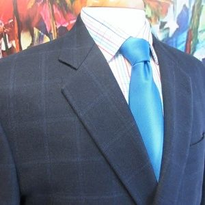 44 LONG- BROOKS BROTHERS MADISON WOOL/CASHMERE